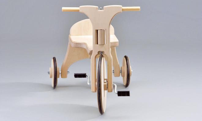 Dreirad selber bauen: Vorderrad einbauen