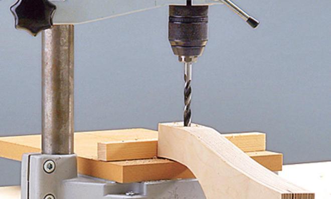 Dreirad selber bauen: Bohrständer