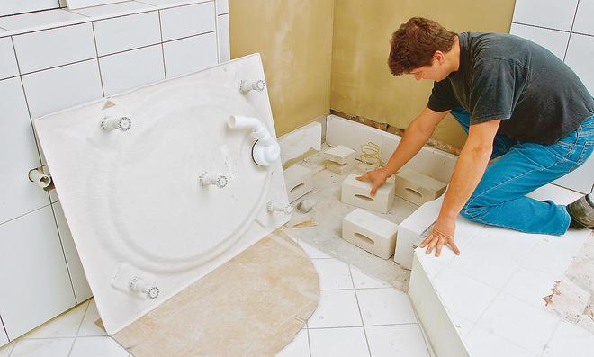 flache duschwanne einbauen anleitung free fabulous duschwanne einbauen ebenerdig cw with flache. Black Bedroom Furniture Sets. Home Design Ideas