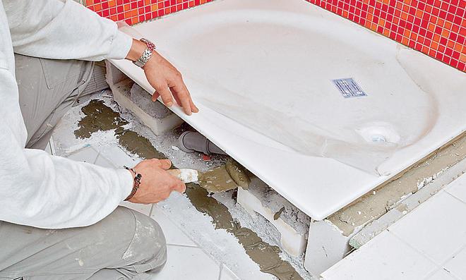 flache duschtasse einbauen easystep duschwanne von hppe flache dusche nachtrglich einbauen. Black Bedroom Furniture Sets. Home Design Ideas