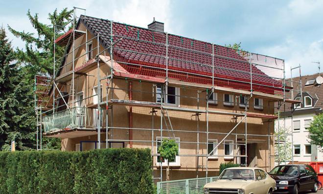 Fassade: Gerüst aufbauen