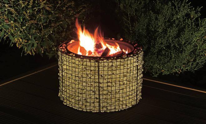 Feuerkorb aus Gabionen