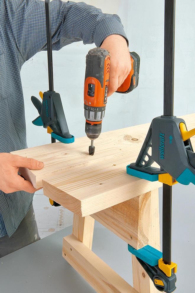 Holzbank selber bauen
