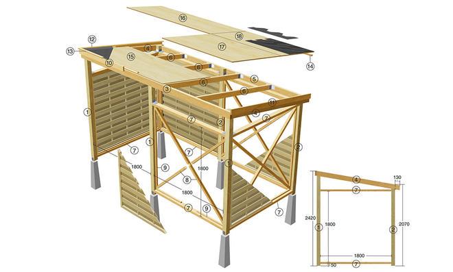 Geräteschuppen bauen