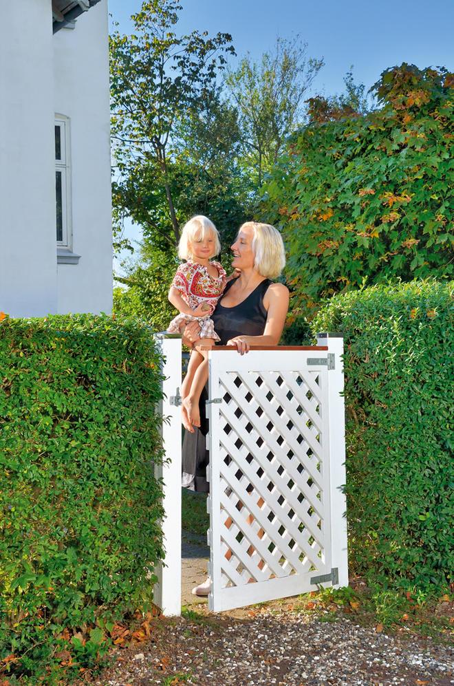 Zaun: Gartentür bauen