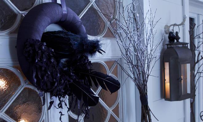 Halloween: Türkranz basteln