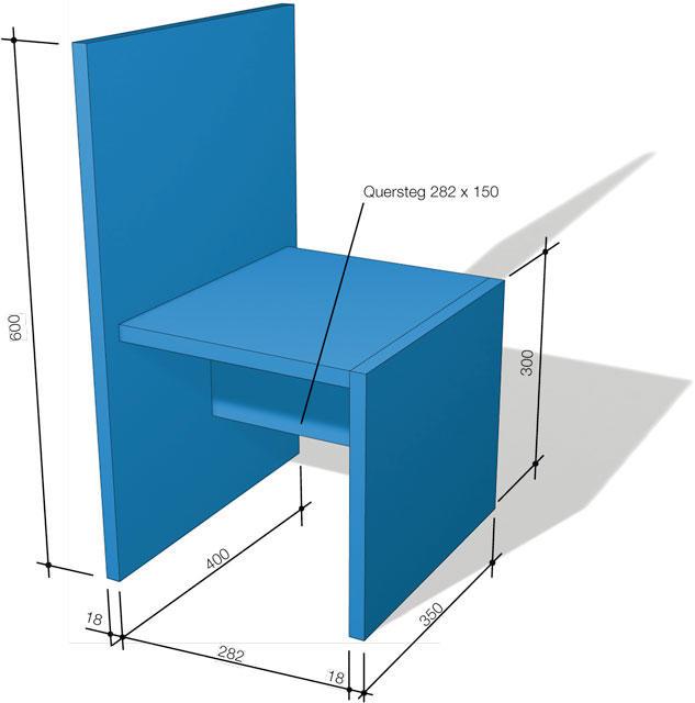 Zeichnung Kinder-Stuhl