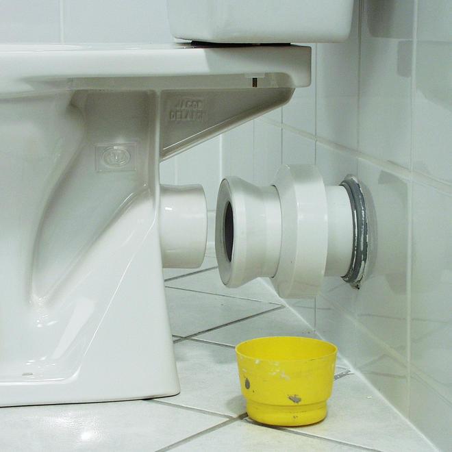 Toilette anschießen