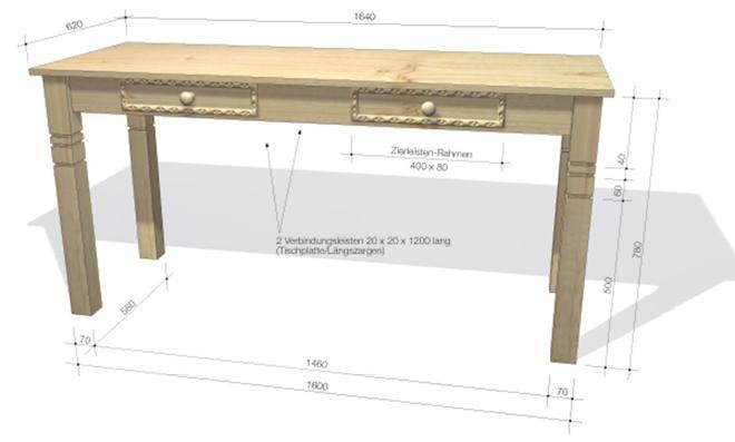 konsolentisch bauen. Black Bedroom Furniture Sets. Home Design Ideas