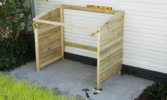 Mulleimer Box Holz Selber Bauen Mulltonnenbox Selber Bauen Gunstige