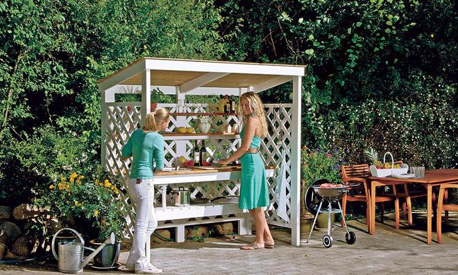 Outdoorküche Mit Spüle Zubehör : Grillen kochen und spülen im garten outdoorküche für den sommer