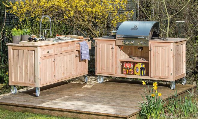 Outdoor Küche Holz Bauen : Bauplan outdoorküche selbst