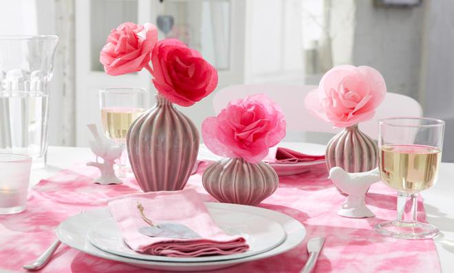 Valentinstag: Papierblumen Basteln