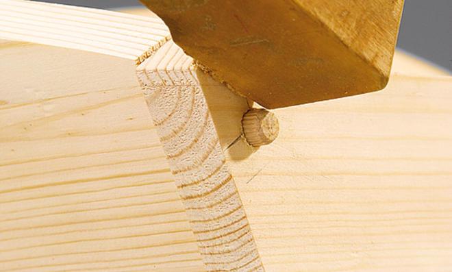Holz-Schubkarre verleimen