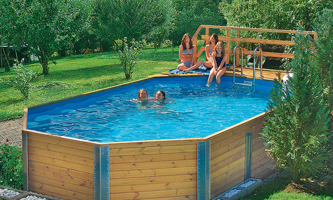 Bausatz pool for Swimmingpool im garten