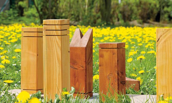 Gartenschach: Schachfiguren bauen