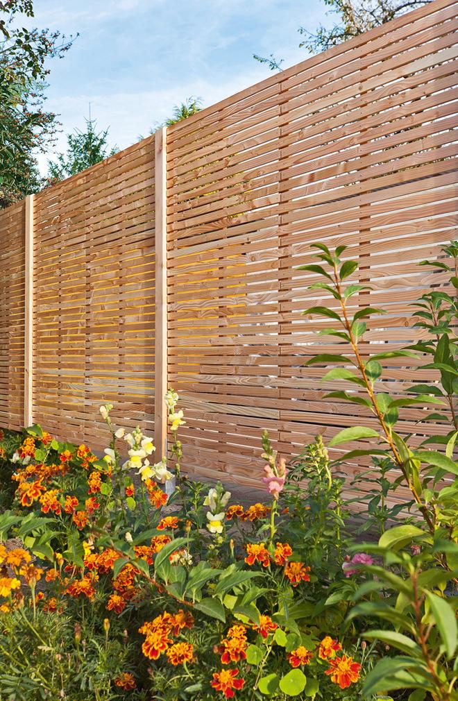 Super Sichtschutzzaun Holz | selbst.de LV01