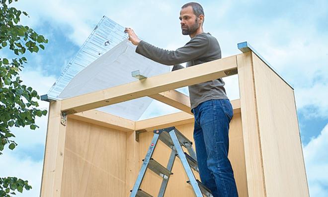 Dach: Doppelstegplatten montieren