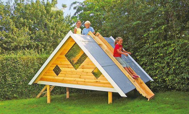Extrem Spielhaus mit Rutsche | selbst.de RP18