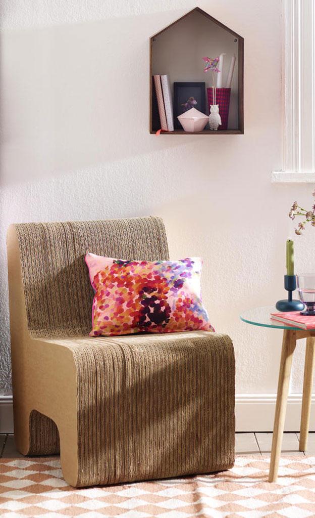 Stuhl aus Wellpappe basteln