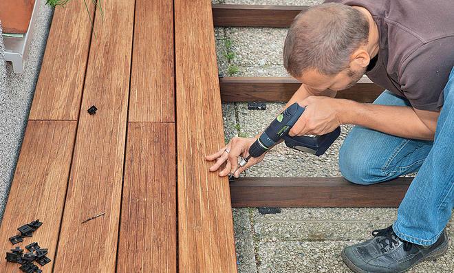 Terrassendielen Kunststoff Nachteile bambus terrassendielen selbst de