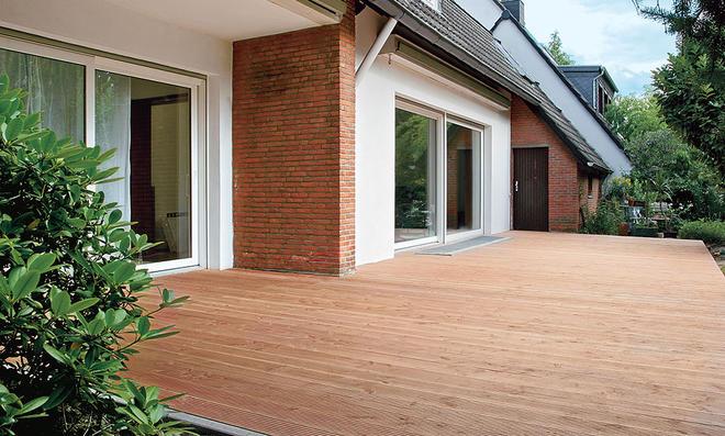 Fußboden Terrasse ~ Terrasse aus douglasien holzdielen selbst