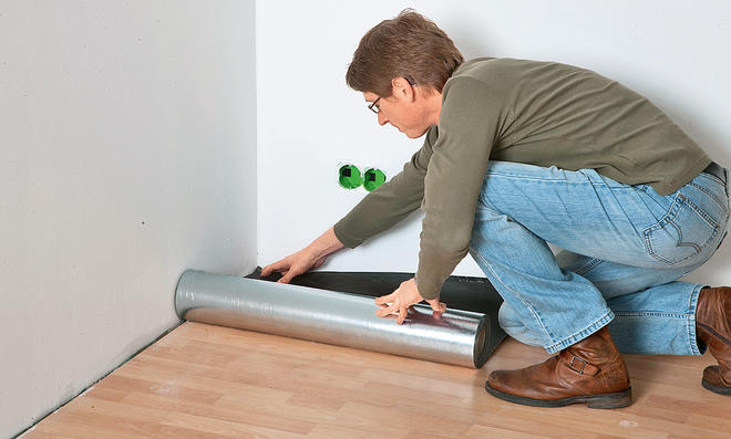 Fußboden Trittschalldämmung ~ Trittschalldämmung verlegen selbst