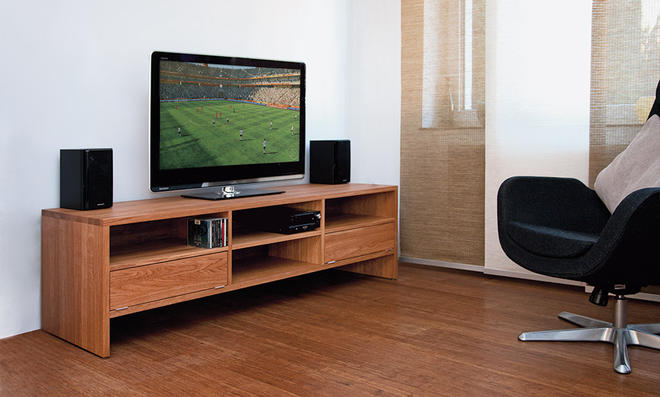 tv bank selber bauen. Black Bedroom Furniture Sets. Home Design Ideas