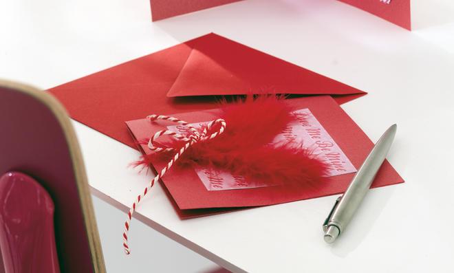 Valentinskarte Basteln