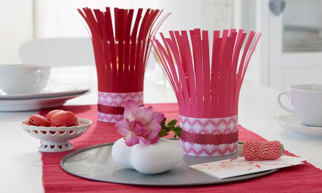 Valentinstag: Windlicht basteln