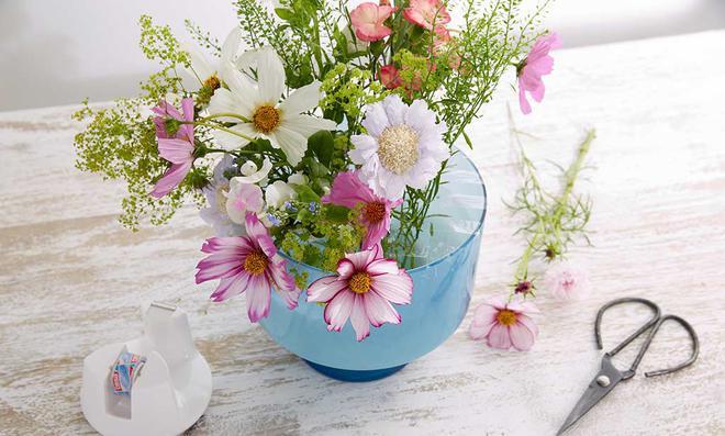 Vase Mit Blumen schnittblumen selbst de