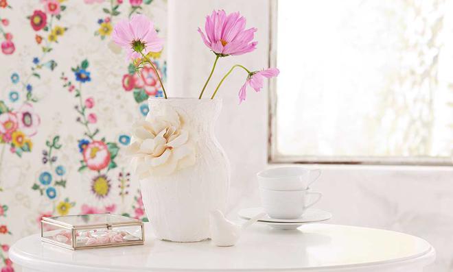 Vase aus Gips basteln