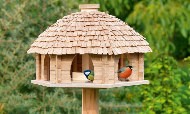 Gut Vogel Futterhaus Bauen Vogelfutterhaus