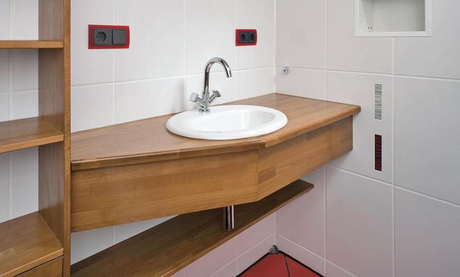 waschbecken mit tisch bad selber bauen waschtisch selber. Black Bedroom Furniture Sets. Home Design Ideas