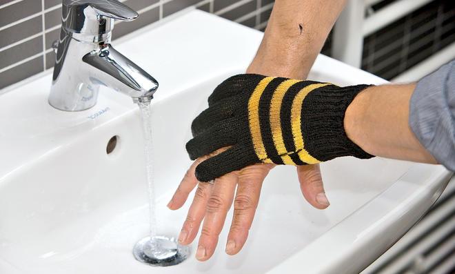 Wasch-Handschuh von Ward Gartenbedarf