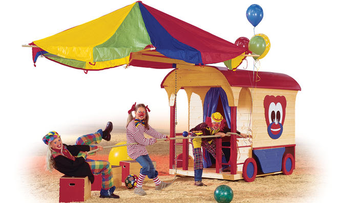 Zirkus: Spielhaus bauen