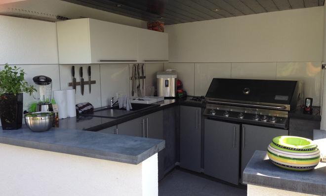 Außenküche Mit Spüle : Outdoor küche mit coaxis system profilen youtube