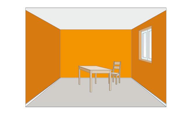 Wirkung von farben for Raumgestaltung wandfarbe