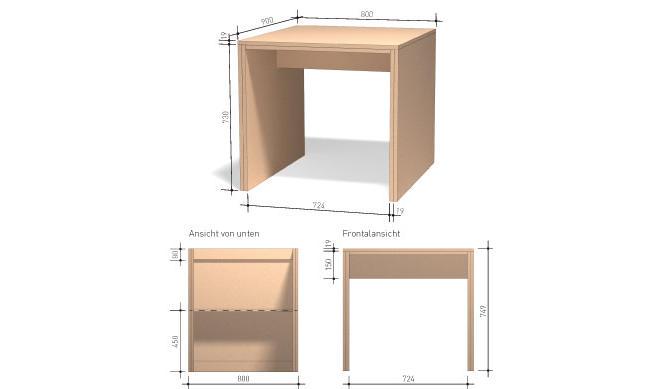 Balkontisch bauen