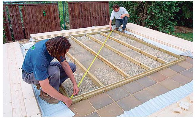 Gartenhaus Fußboden Nageln Oder Schrauben ~ Gartenhaus aufbauen selbst
