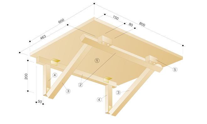 Klapptisch für küche  Wandklapptisch selber bauen | selbst.de