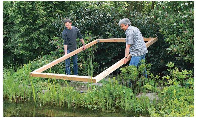 Terrassen-Rahmen platzieren