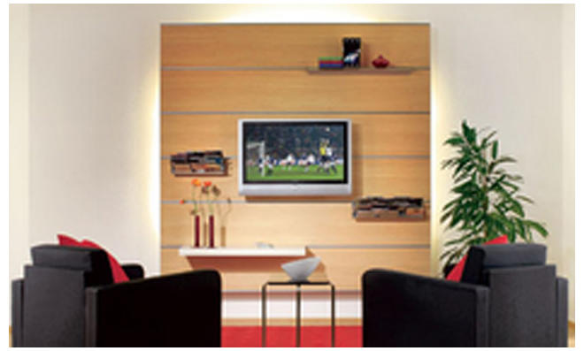 fernseher wandmontage best gutes design qualitt tv fr lcd led plasma flach panel fernsehen. Black Bedroom Furniture Sets. Home Design Ideas