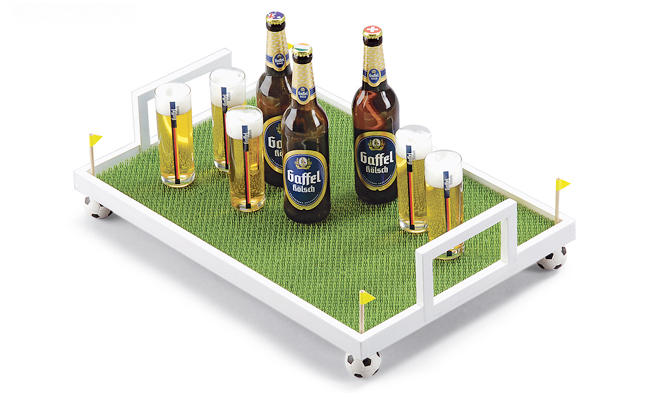 Fußball-Tablett bauen