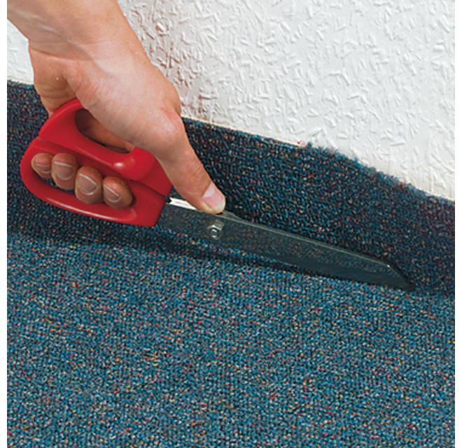 Teppich andrücken