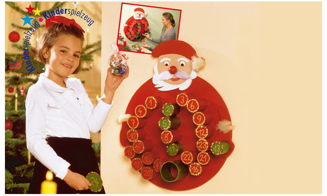 Nikolaus-Adventskalender basteln