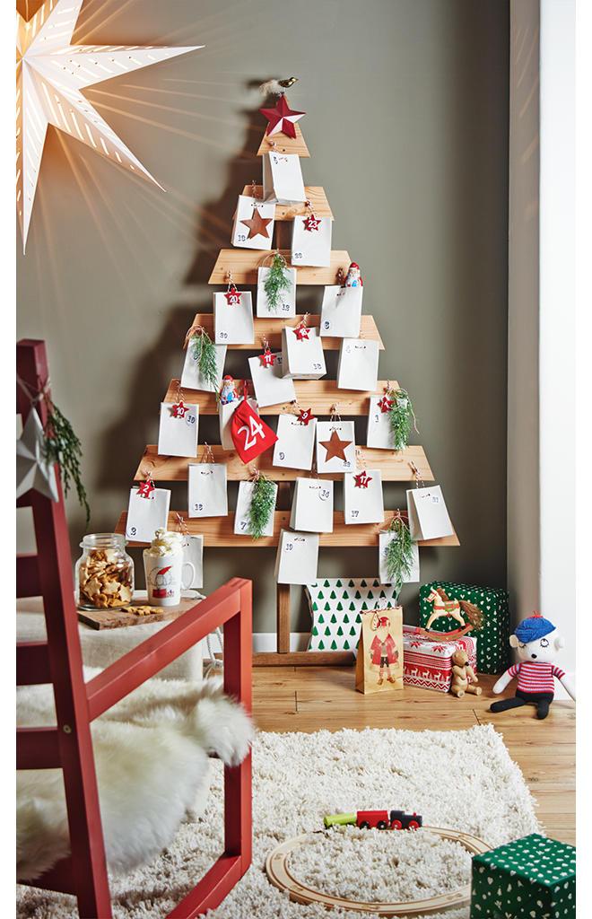 Weihnachtskalender Tannenbaum.Adventskalender Aus Holz Selbst De