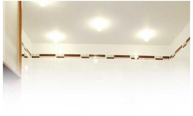 Bad-Umbau: Decke aus Zementbauplatten mit Einbauspots