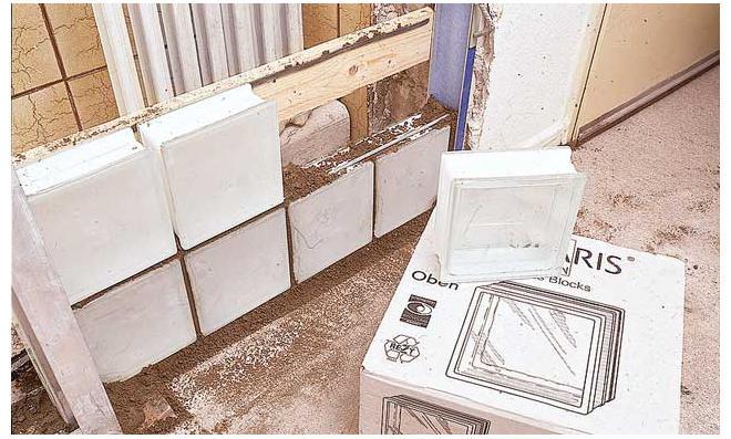 glasbausteine mauern selbstde - Dusche Mauern Glasbausteine