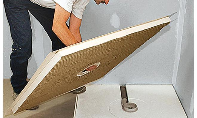 bodentiefe dusche einbauen. Black Bedroom Furniture Sets. Home Design Ideas